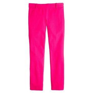 J Crew fuschia Minnie crop pants in 0 EUC